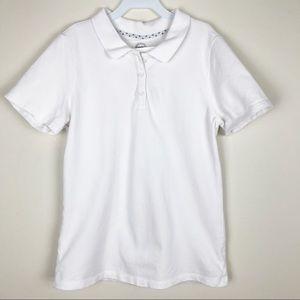 Wonder Nation White Polo Shirt